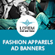 Fashion Apparels Ad Banners - GraphicRiver Item for Sale