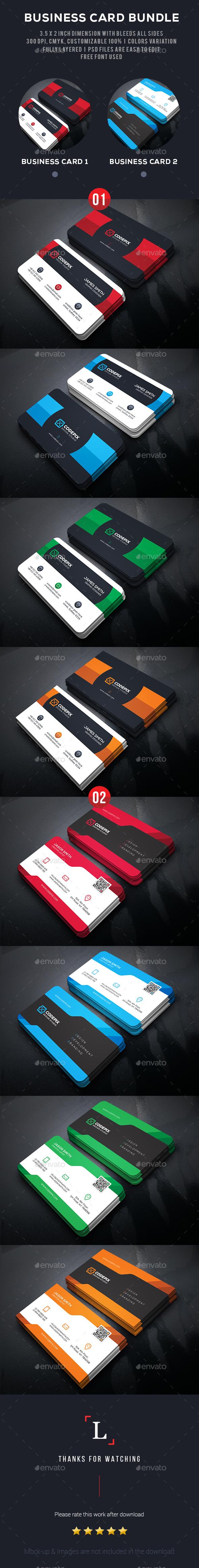 Shape Business Card Bundle - Business Cards Print Templates