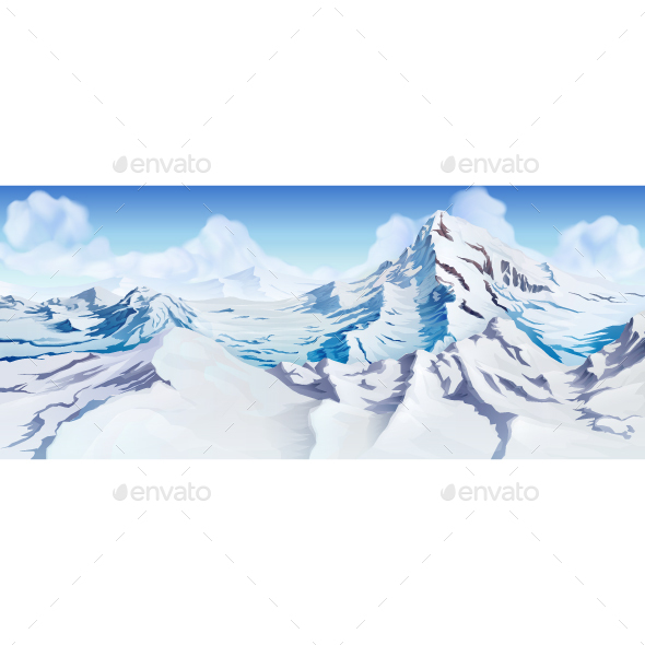 Snowy Mountain Peaks - Landscapes Nature