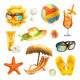 Summer Beach Icons - GraphicRiver Item for Sale