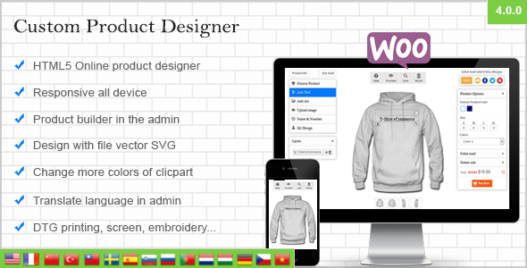 WooCommerce Custom Product Designer - CodeCanyon Item for Sale