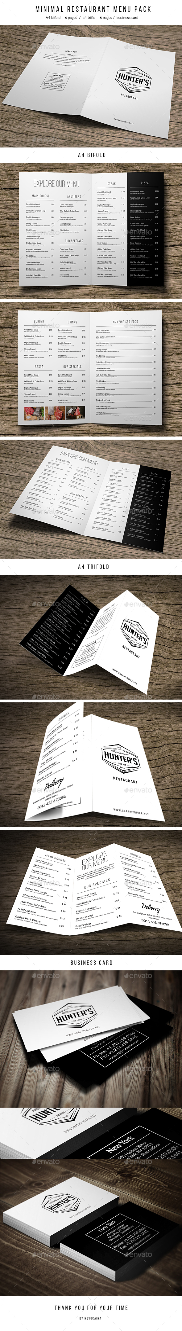 Minimal Food Menu Pack