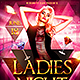 Ladies Night Flyer Template Plus FB Cover - GraphicRiver Item for Sale