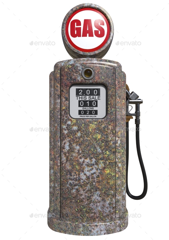 Retro Gas Pump 3D Render - Objects 3D Renders