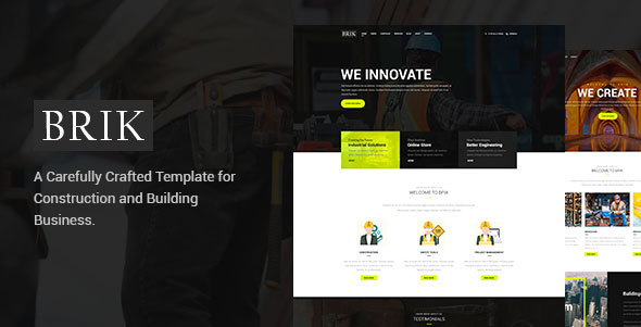 Brik – Construction & Building PSD Template