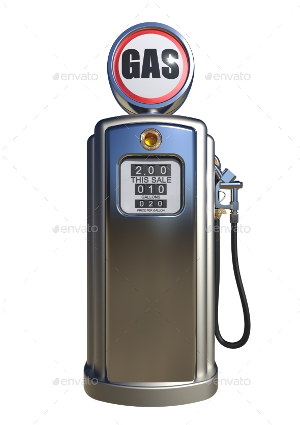 Retro Gas Pump 3D Render - Objects 3D Renders
