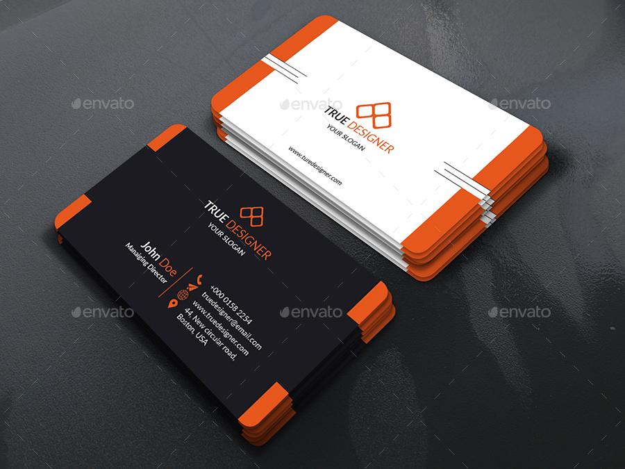 Orange black business cards choice image card design and card template corporate business card 01 by rashedulhossain4 graphicriver preview setorange rounded ractangularg reheart choice image colourmoves