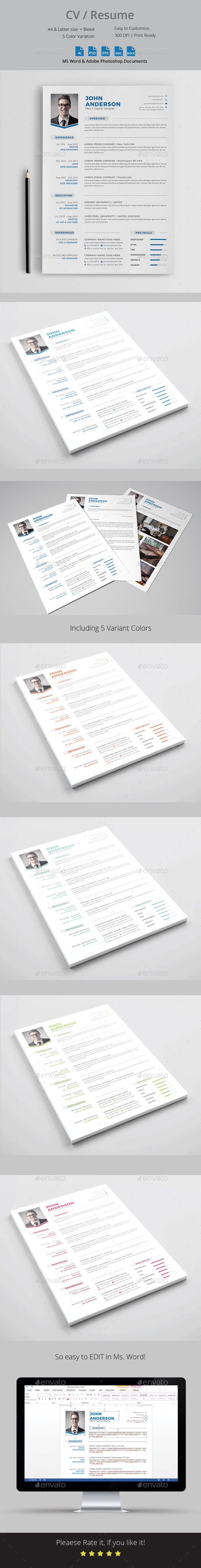 CV Resume Template - Resumes Stationery