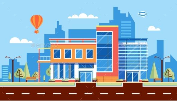 Administrative Building 1 - Web Elements Vectors