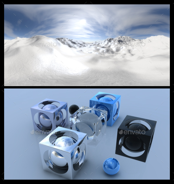 Snow 2 - HDRI - 3DOcean Item for Sale