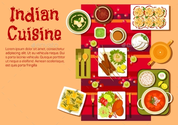 Indian Cuisine Dishes and Snacks - Food Objects
