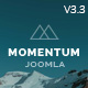 Momentum - Simple Creative OnePage Joomla Template Nulled