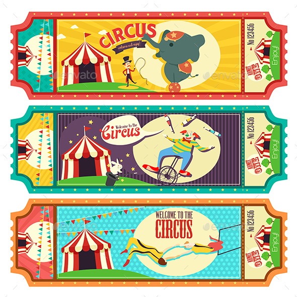 Circus Ticket Design - Industries Business