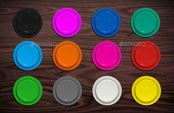Arcade Button Pack - Objects 3D Renders