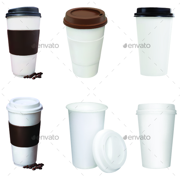 Set of Coffee Cups - Food Objects