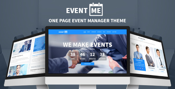 EventMe - One Page Conference & Event Drupal Theme - Events Entertainment