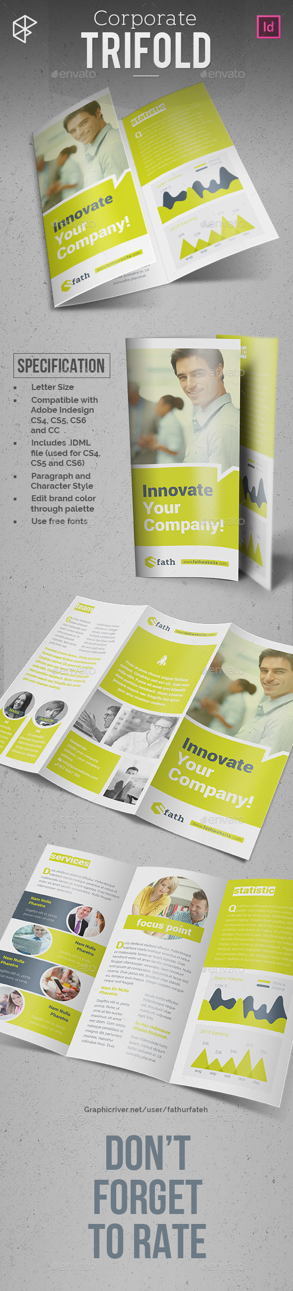 Corporate Trifold - Corporate Brochures