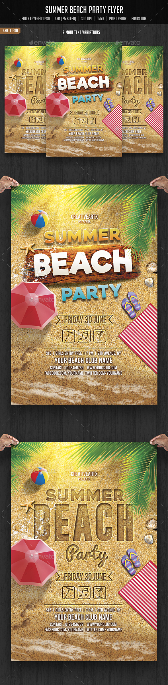 Summer Beach Party - Clubs & Parties Events