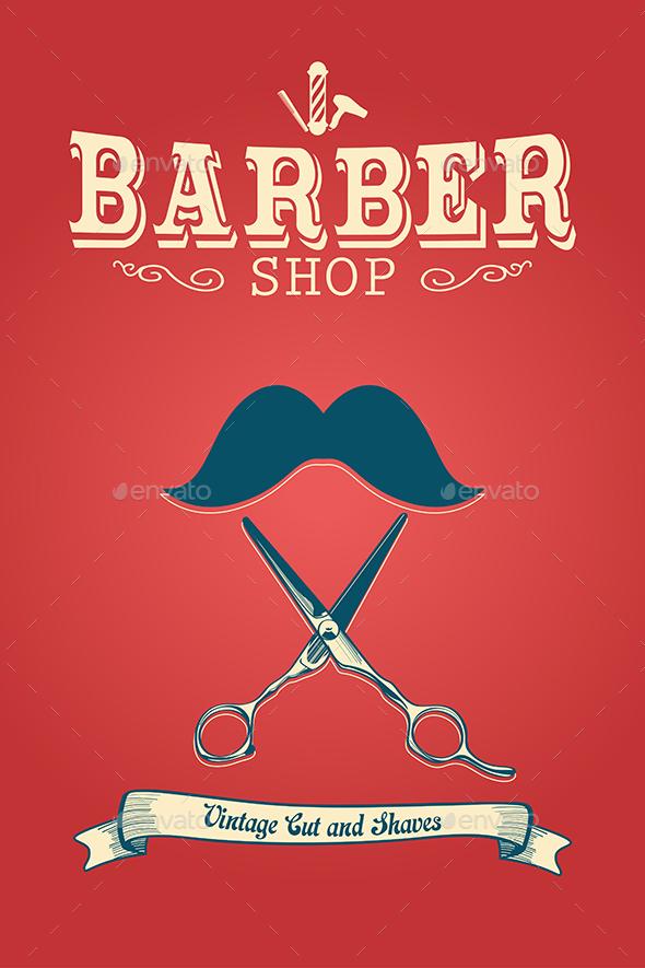 Barber Shop Poster - Backgrounds Decorative