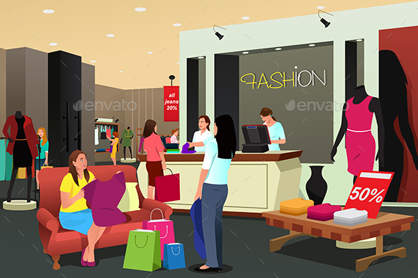 Women Shopping for Clothing - Retail Commercial / Shopping