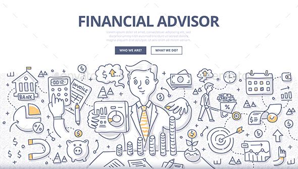 Financial Advisor Doodle Concept - Concepts Business