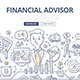Financial Advisor Doodle Concept
