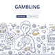 Gambling Doodle Concept - GraphicRiver Item for Sale