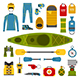 Rafting and Kayaking Set - GraphicRiver Item for Sale