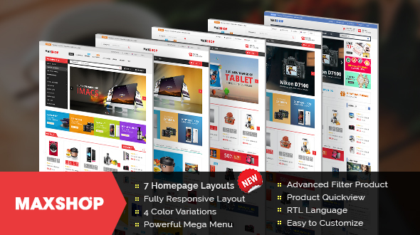 Maxshop – Responsive Multipurpose OpenCart Theme