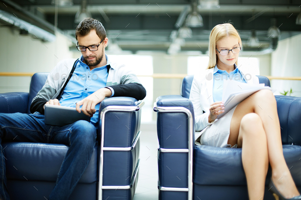 Working in arm-chairs - Stock Photo - Images