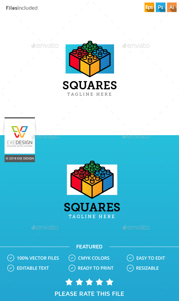 Square Logo - 3d Abstract