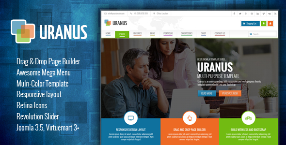 Uranus - Responsive Colorful Virtuemart Joomla Template