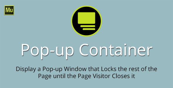 Pop-up Container Adobe Muse Widget - CodeCanyon Item for Sale