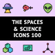 The Spaces & Science Icons 100 - GraphicRiver Item for Sale