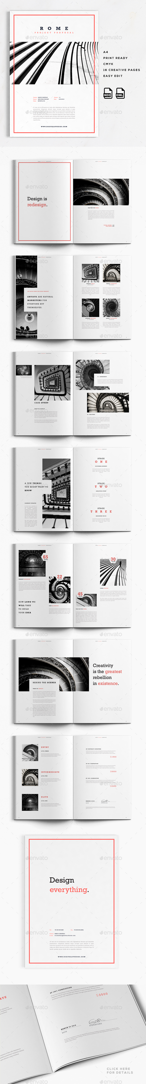 Rome | A4 Creative Business Proposal - Proposals & Invoices Stationery