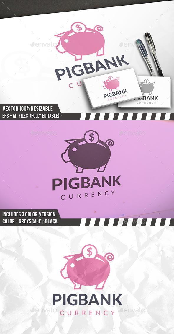 Save Money Pig Logo - Animals Logo Templates
