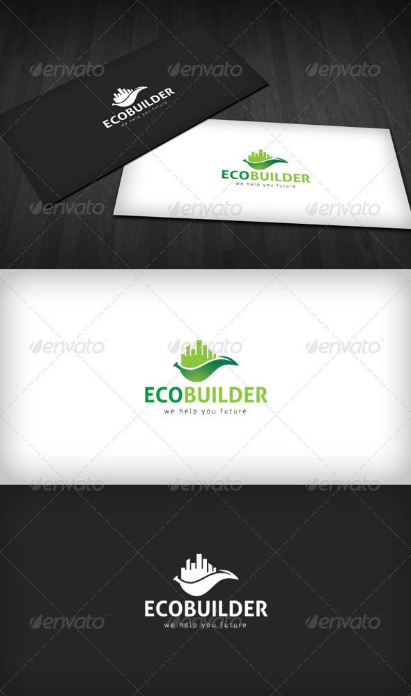 Eco Builder Logo - Buildings Logo Templates
