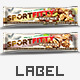 Label Design Template Candy Bar Nutrition Granola Bar - GraphicRiver Item for Sale