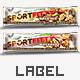 Label Design Template Candy Bar Nutrition Granola Bar - GraphicRiver Item for Sale