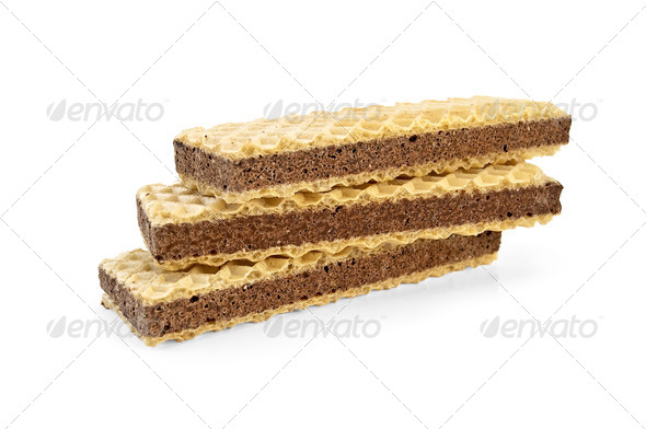 Waffles with chocolate - Stock Photo - Images