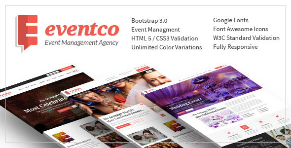 Eventco - Event Management Agency Responsive Template - Corporate Site Templates