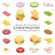 Isometric Sandwich and Hamburger Constructor - GraphicRiver Item for Sale
