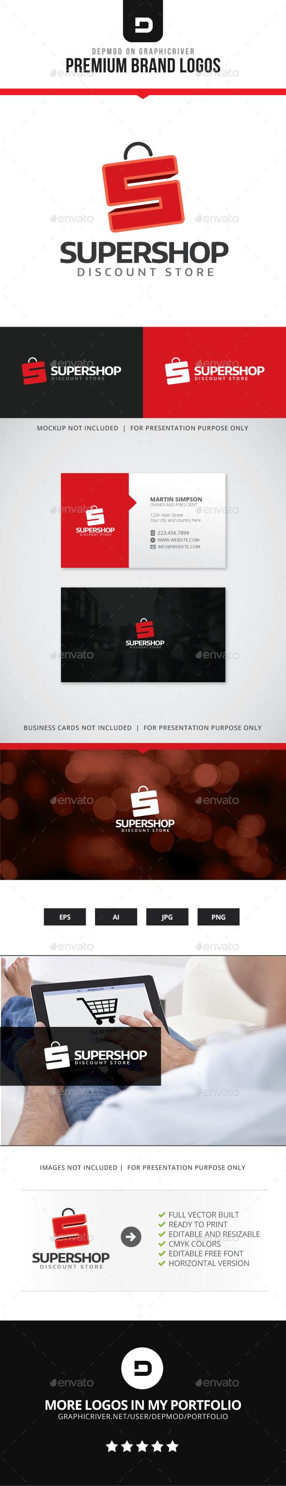 Super Shop Logo - Letters Logo Templates