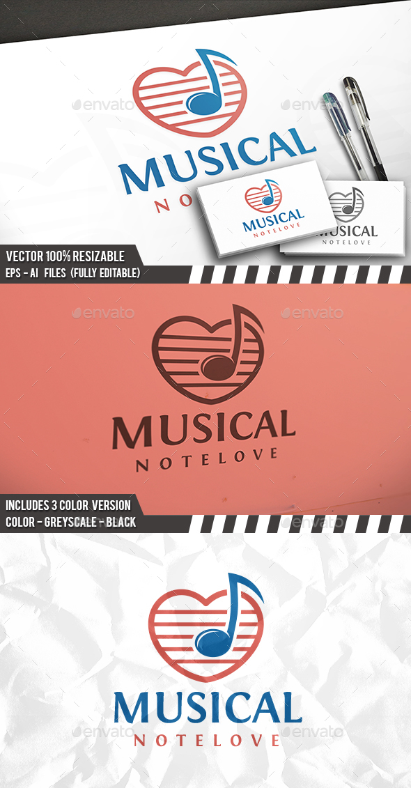 Music Love Logo - Symbols Logo Templates