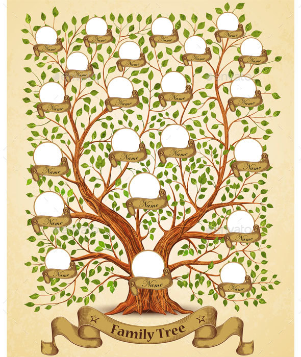 Family Tree Template By Yayasya  Graphicriver