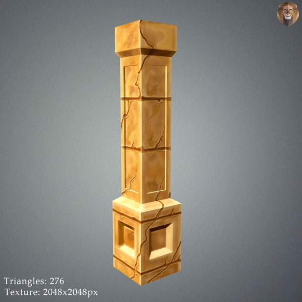 Low Poly Sand Pillar - 3DOcean Item for Sale