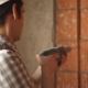 Worker Drills Hole In Wall - VideoHive Item for Sale