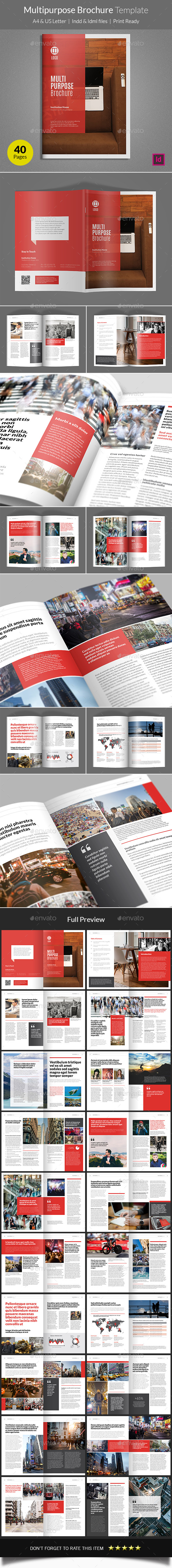 Multipurpose Brochure Template - Informational Brochures