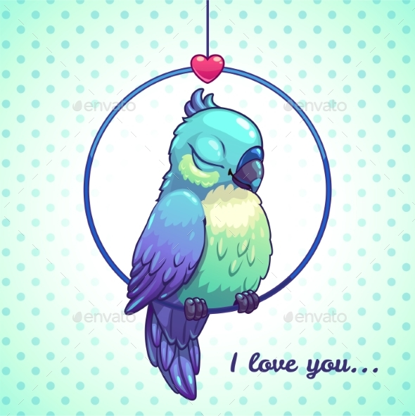 Cartoon Blue Bird - Animals Characters