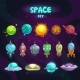 Space Cartoon Icons Set - GraphicRiver Item for Sale